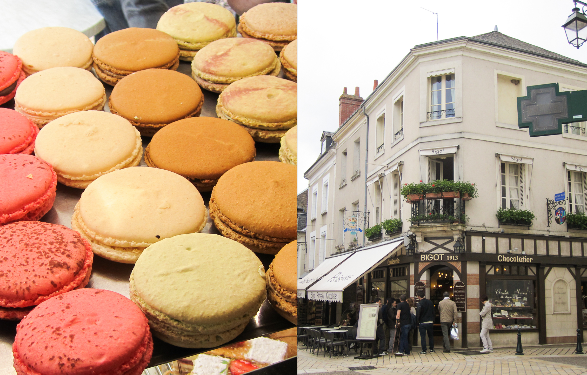 Macarons from Patisserie Bigot in Amboise, France