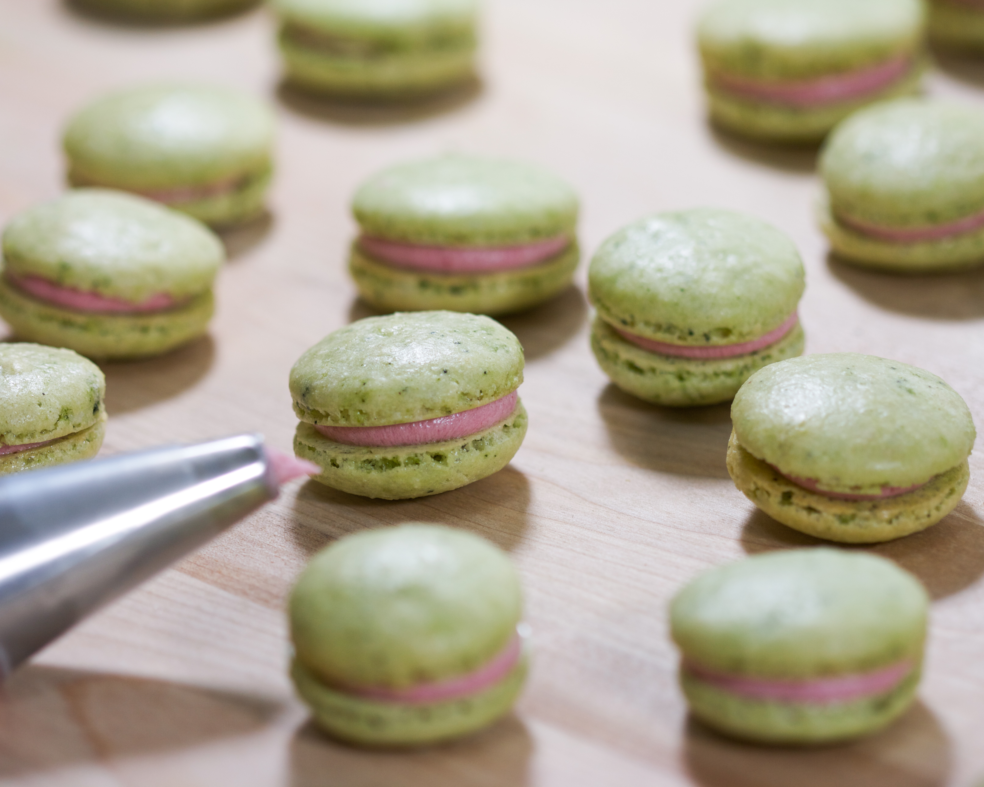 Thirsty For Tea Green Tea Macarons with Raspberry ...