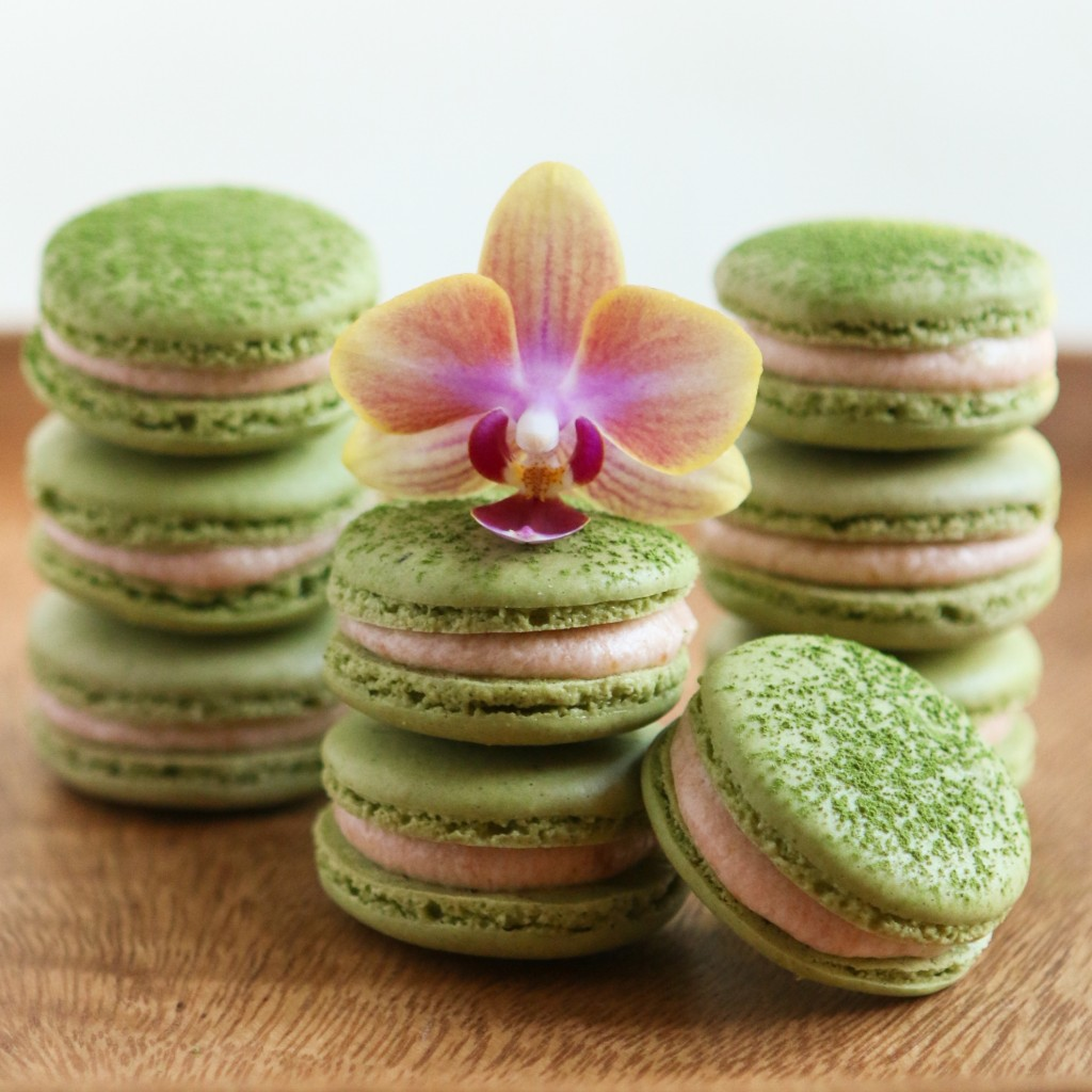 Thirsty For Tea Green Tea Guava Macarons