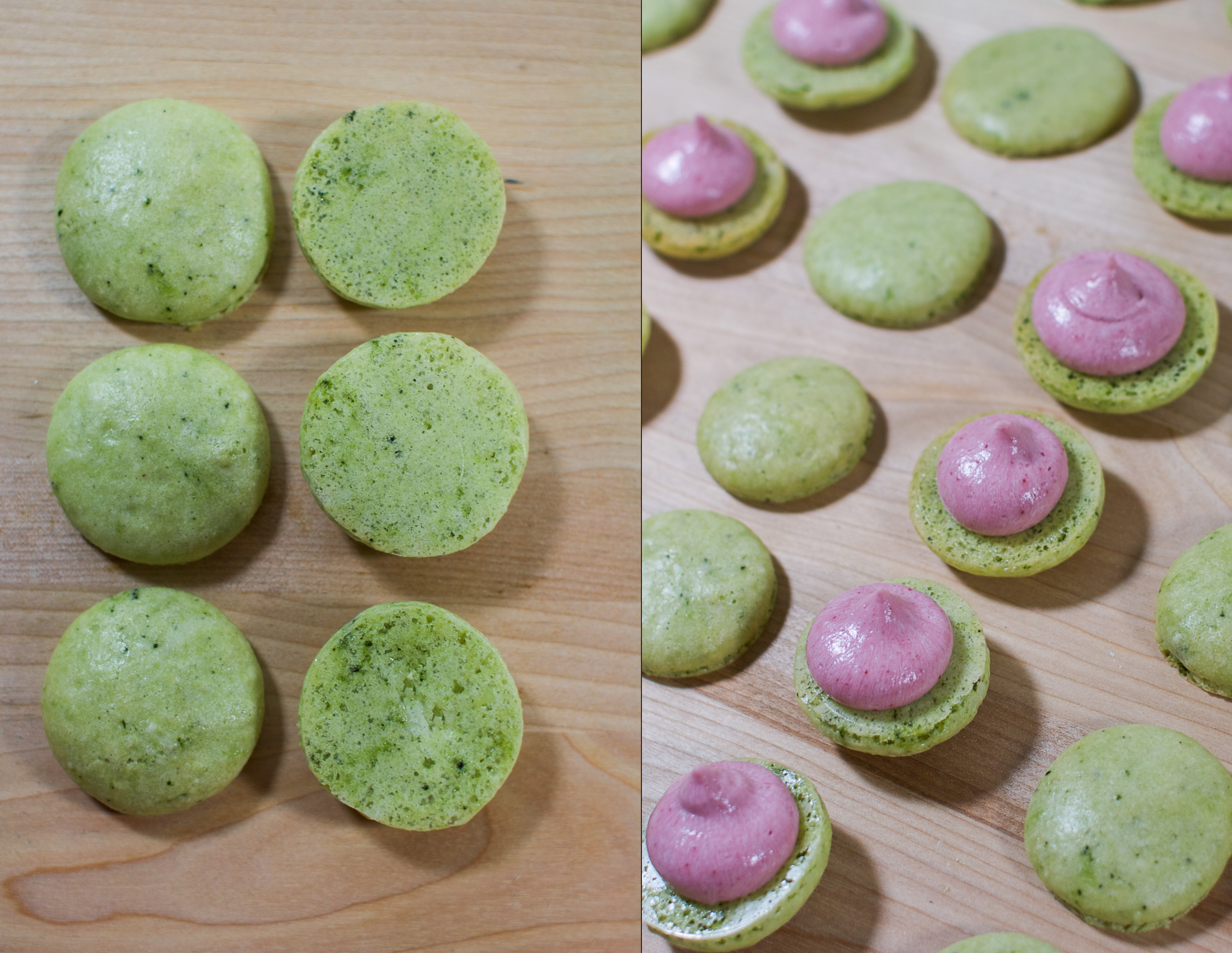 Paired & piped macarons...every cookie has a partner!