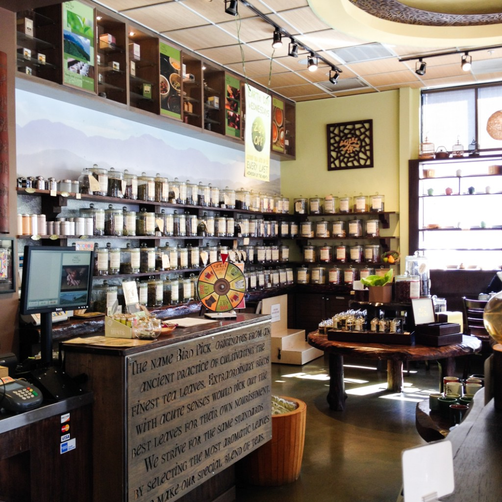 Bird pick tea herb in old town pasadena thirsty for tea - Franquicia tea shop ...