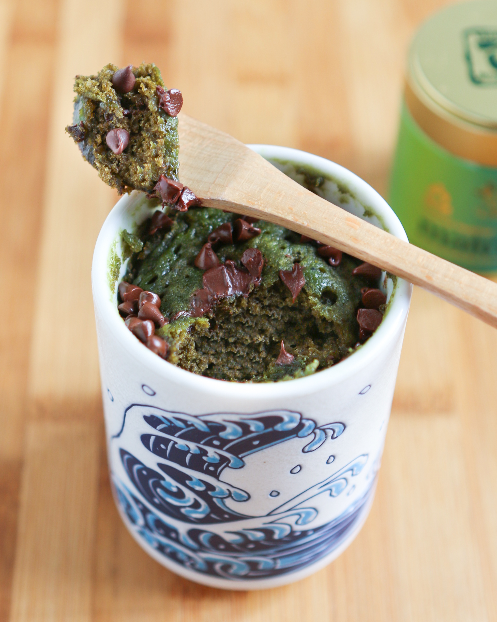 Thirsty For Tea Chocolate Chip Matcha Mug Cake