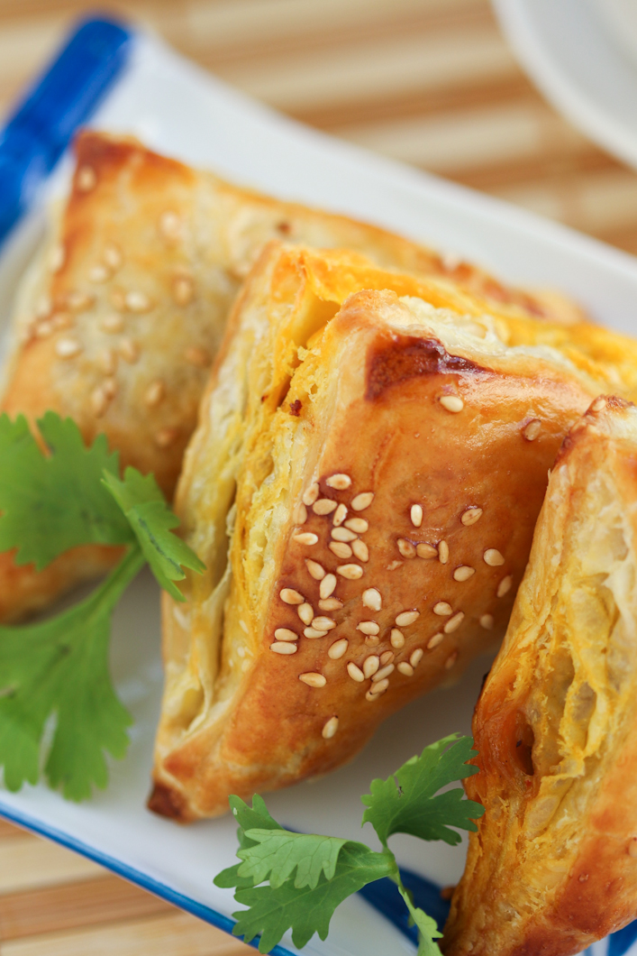 Thirsty For Tea Dim Sum Recipe # 9: Chicken Curry Puffs