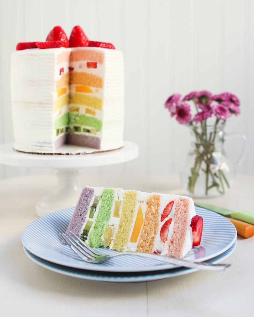 Easy  Layer Rainbow Cake Recipe