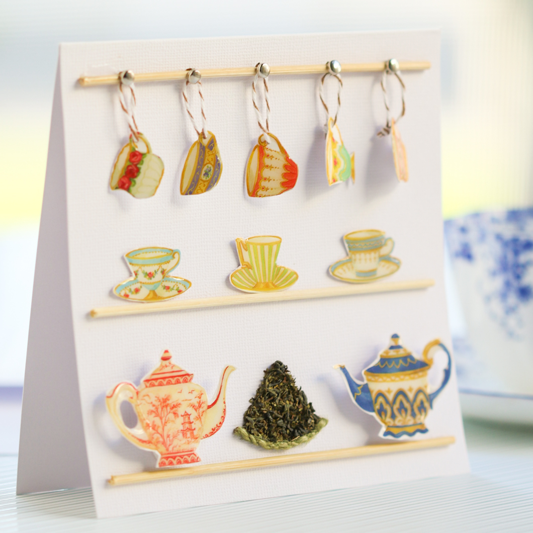 Afternoon Tea Greeting Card Thirsty For Tea