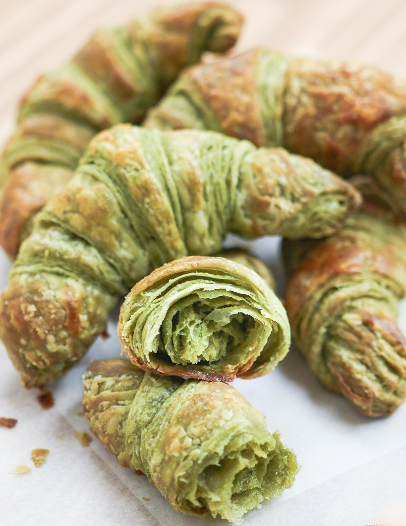 One Full Recipe Of This Dough Makes 32 Crispy, Flakey Mini Matcha Croissants  If You Like Variety, Then Divide The Dough Up To Make Both Regular (16) And