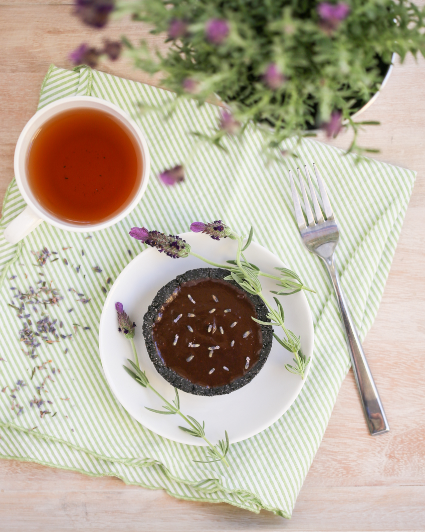 Thirsty For Tea Lavender Chocolate Tarts