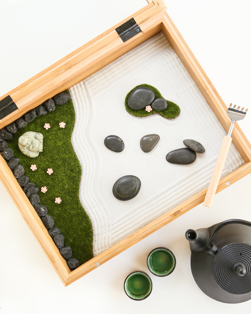 The Zen Tradition Emphasizes Calm Mindfulness, Letting Go, And Quieting The  Mind. Creating Your Own Mini Zen Garden Is A ...