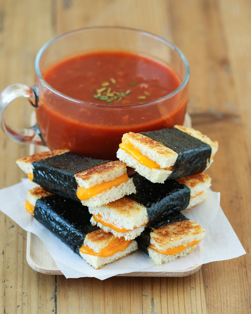 Thirsty For Tea Nori Grilled Cheese Sandwiches With Smokey