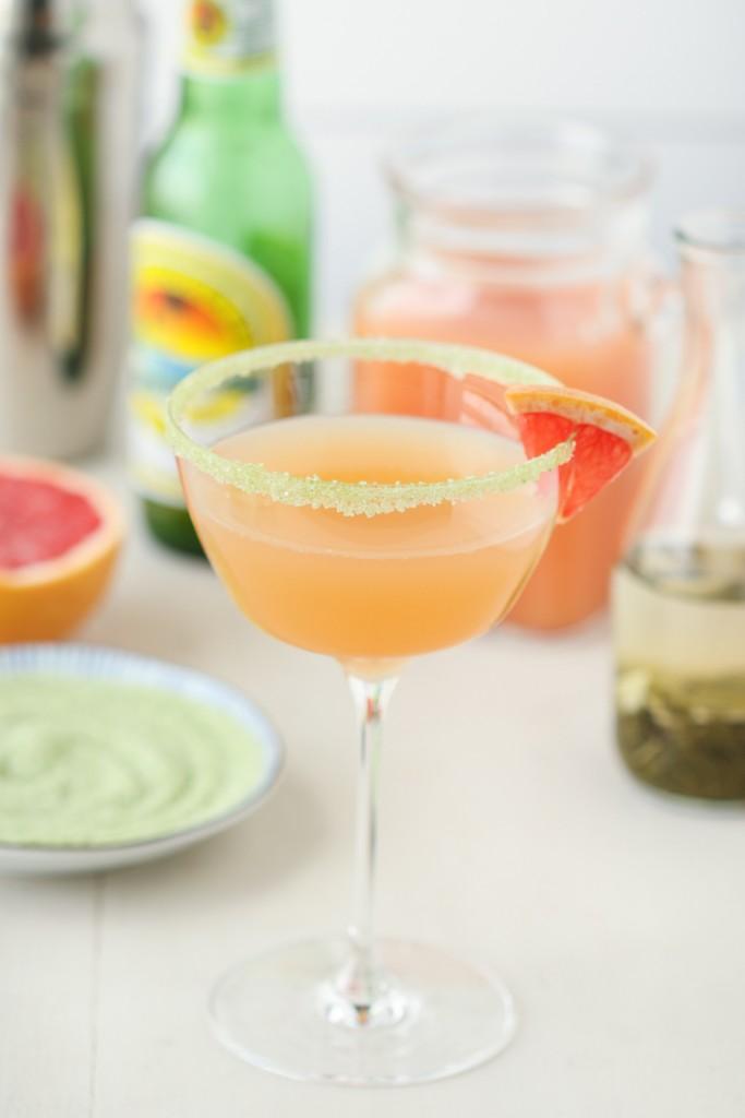 Thirsty For Tea Grapefruit Green Tea Sake-tinis