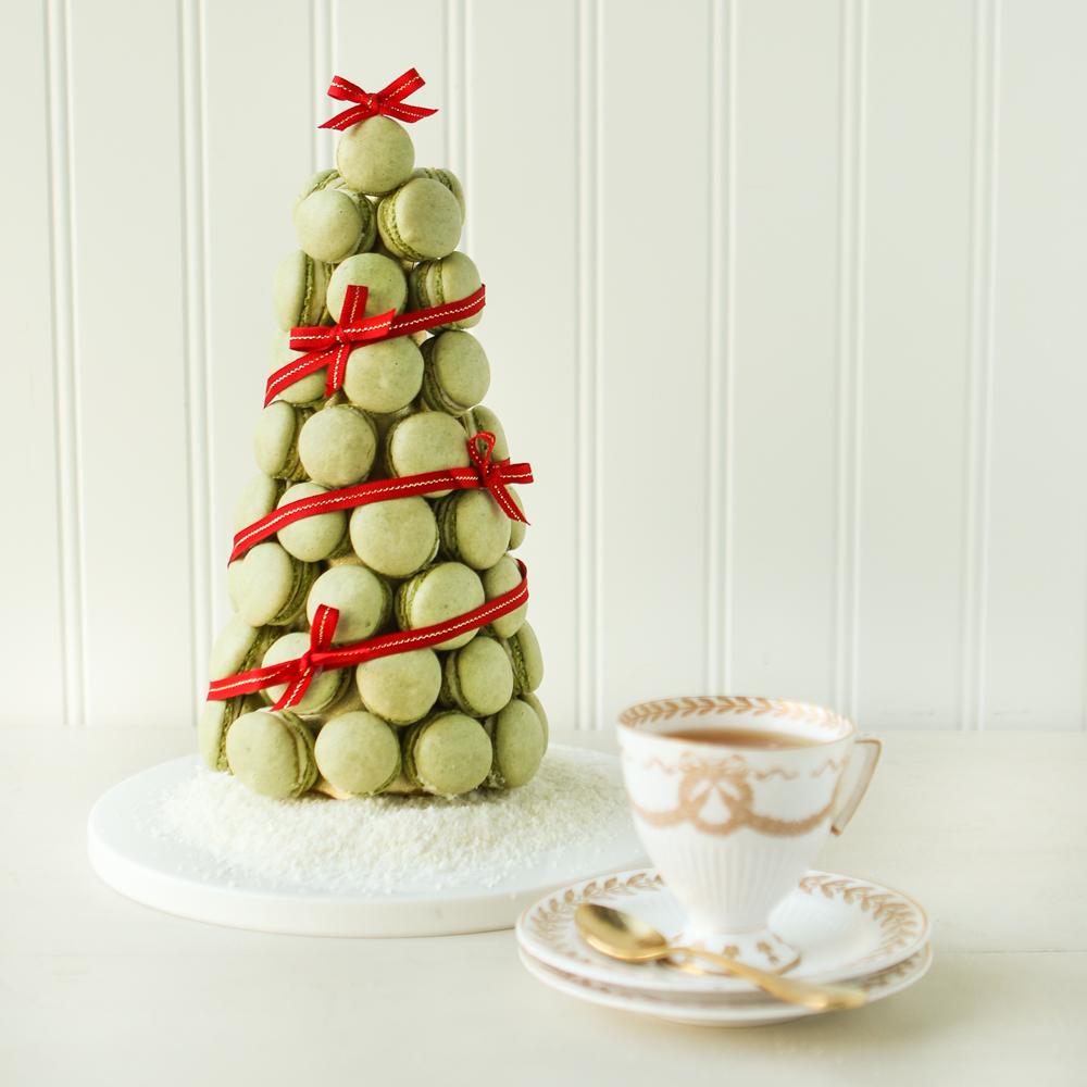 Christmas Macarons.Thirsty For Tea Macaron Christmas Tree