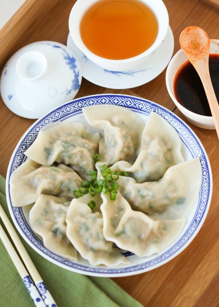 Chinese pork and chive dumplings recipe