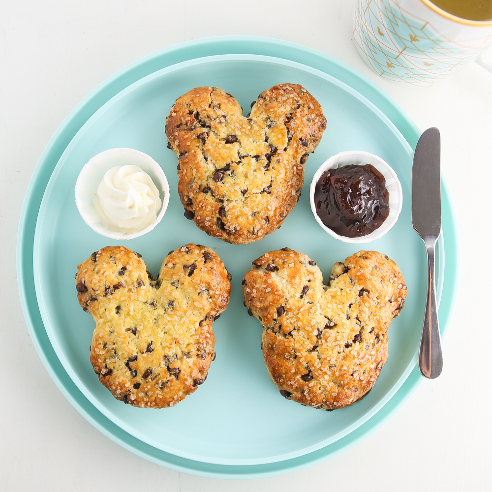 Mickey Mouse Chocolate Chip Scones | Thirsty For Tea